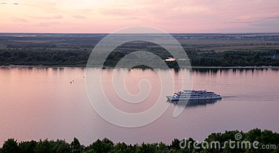 River boat cruise on Volga River