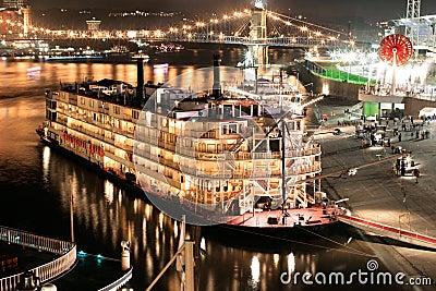 River Boat At Night