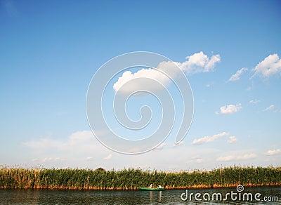 River,boat,sky