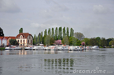 River boats in france