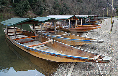 River boats - Kyoto Japan