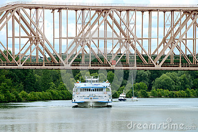 The river bridge Editorial Photography