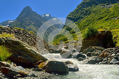 River in Caucasus