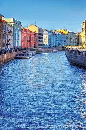 River channel in Saint-Petersburg