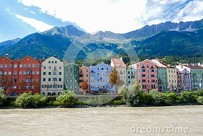 River, colors and mountain Stock Photo