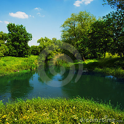 River in countryside