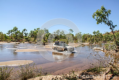 River crossing with a 4WD