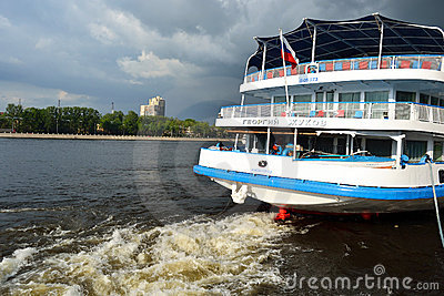 River cruise ship Editorial Stock Photo