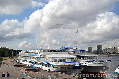 River cruise ships Editorial Stock Image