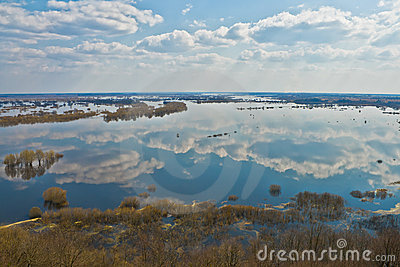 River Dnepr in spring time
