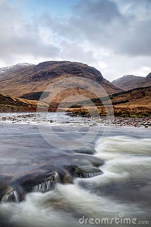 River Etive Flow