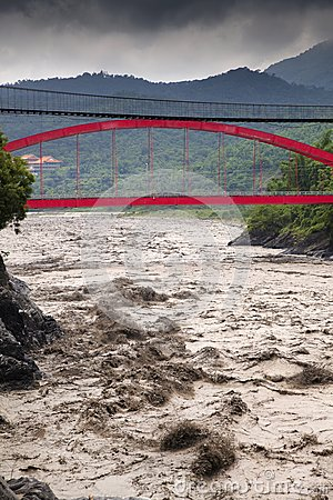 River in flooding