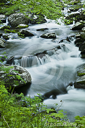 River flow in TN, Smoky Mountains