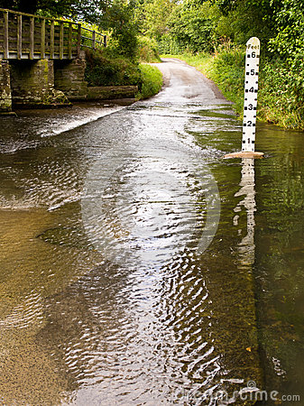 River Ford Crossing on Country Lane