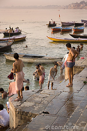 River Ganges in Varanasi - India Editorial Photo