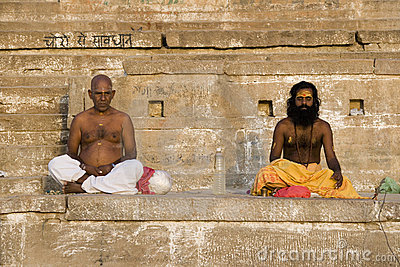 River Ganges in Varanasi - India Editorial Photography
