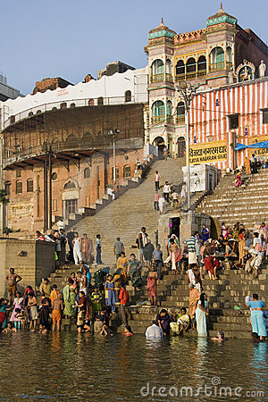 River Ganges in Varanasi - India Editorial Stock Image