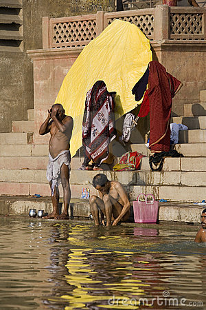 River Ganges in Varanasi - India Editorial Stock Photo