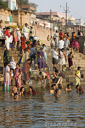 River Ganges in Varanasi - India Editorial Photo