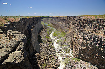 River through gorge