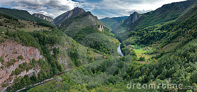 River gorge in mountains
