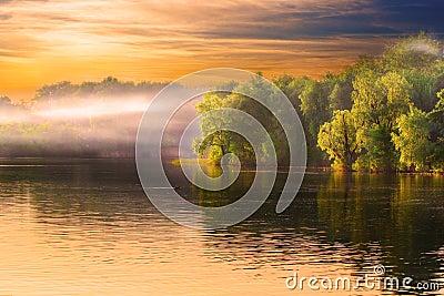 River haze landscape
