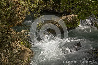 River Hermon ,Banias Nature Reserve in Israel