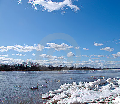 The river and ice