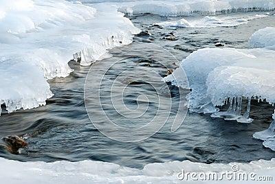 River in ice
