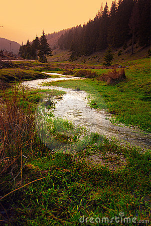 Free River In Valley Stock Photos - 5334813
