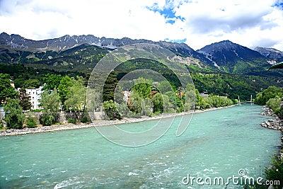 River Inn,Innsbruck,Austria.