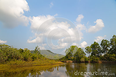 River on the island of Phu Quoc