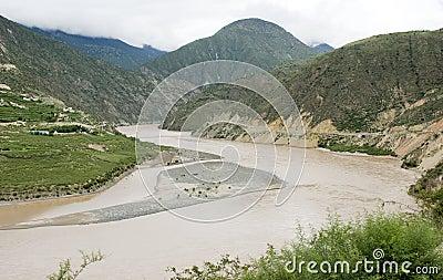 River Jingsha  in China
