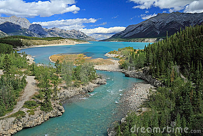 River Through Kootenay Plains, Alberta