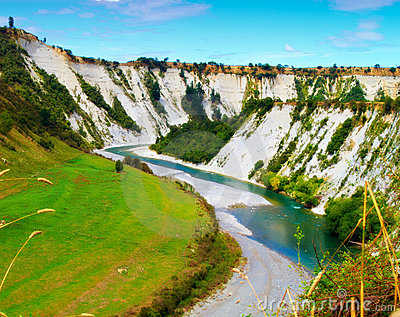 River Landscape in New Zealand