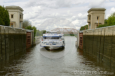 River lock Editorial Stock Image