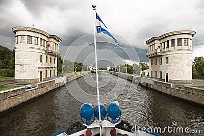 River lock Editorial Photo