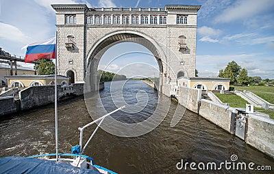 River lock Editorial Stock Image