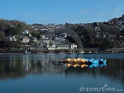 River Looe, Cornwall, England - in winter sunshine