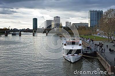 River Main in Frankfurt Editorial Image