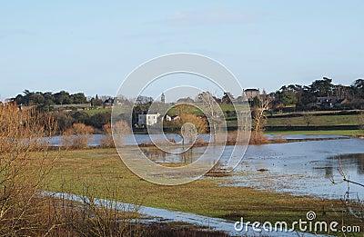 River Maine flood, Anjou, France.