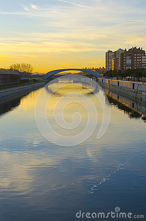 River Manzanares sunrise