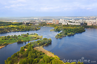 River in Moscow, Russia