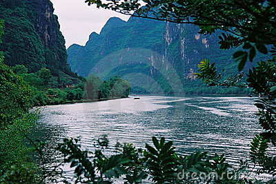 River and the mountain