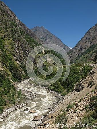 River named Bhote Kosi