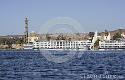River Nile near Aswan in Egypt