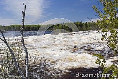 River overflow from springtime melt