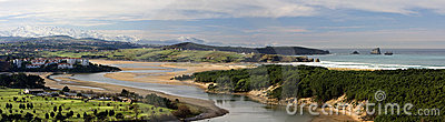 River Pas Estuary (panorama) Stock Photography - Image: 16140492