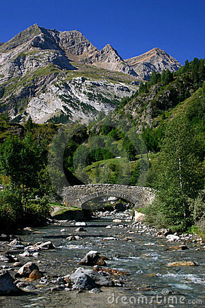 River in Pyrenees Mountains