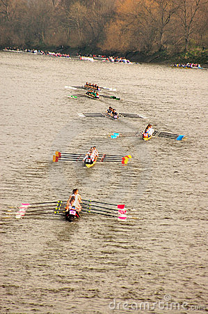 River Race Editorial Stock Image